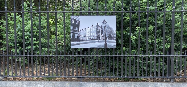 Bedford Square Gardens Outdoor Exhibition featuring photographs by Ram Shergill